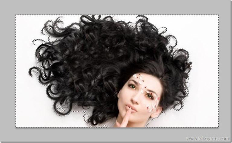 tutorial efek seleksi rambut photoshop