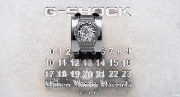*Maison Martin Margiela x G-shock:GA-300聯名限量銀色液態金屬錶! 3