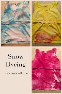 Dyeing fabric with snow!