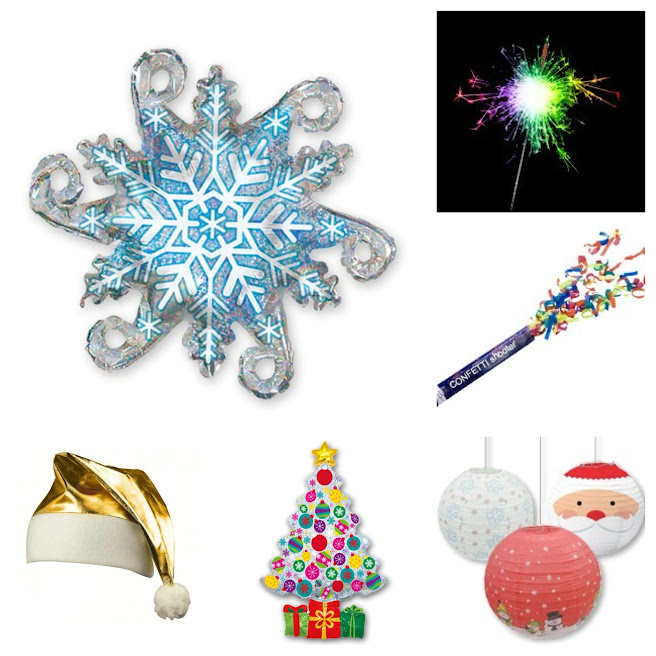 ideas-divertidas-navidad-decoración-diy-globos-faroles-gorros