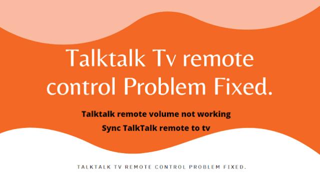 Talktalk Tv remote control Problem Fixed.