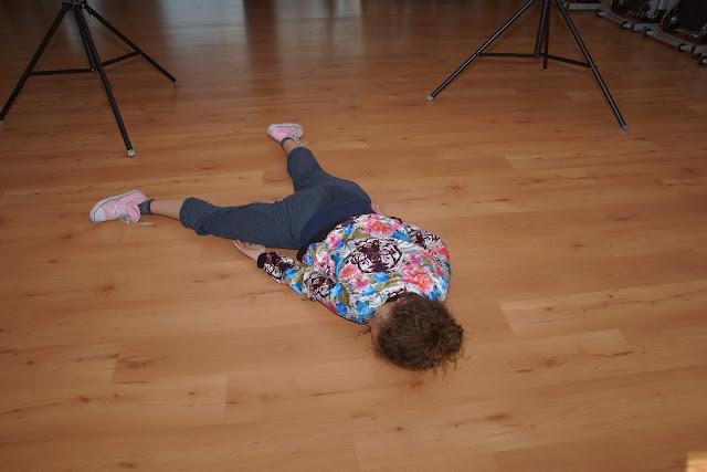 Morgane, uitgeteld na 3 sessies dansen