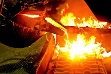 Small electric arc furnace.