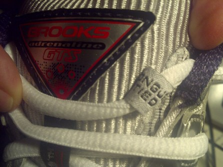 """Nice detail on my new #Brooks, """"tongue tied"""" guide for shoelaces"""