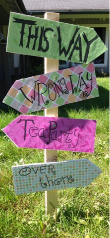 Mad Hatter Tea Party Signage