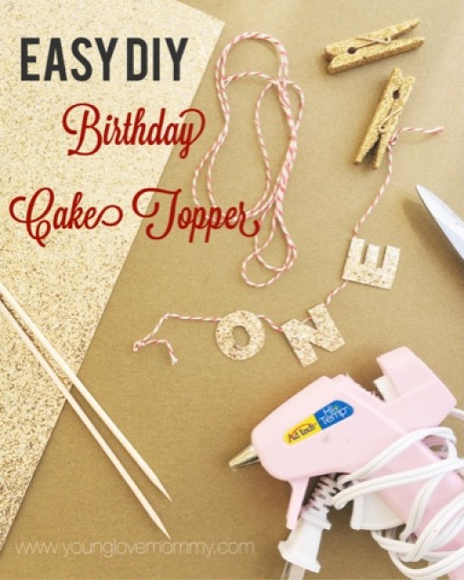 cake topper pinterest tutorial