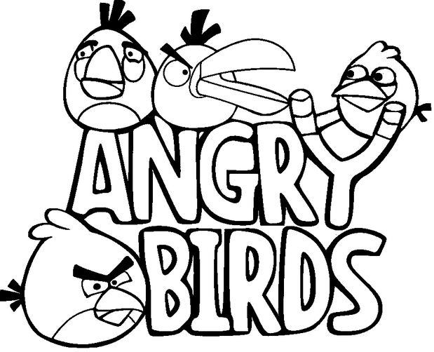 Top 50 Angry Birds Coloring Pages 2017