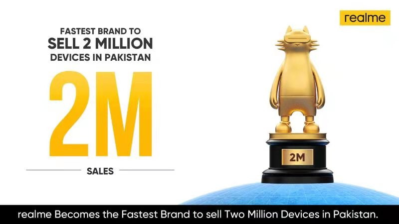With Two Million Handsets Sold in Pakistan, realme sets its Eyes on the Next Milestone with a Daring Campaign