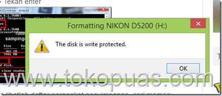 memperbaiki disk memory card protected