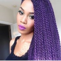 GRACEFUL HAIR MAKEOVER: purple braids/twist and cornrow ...