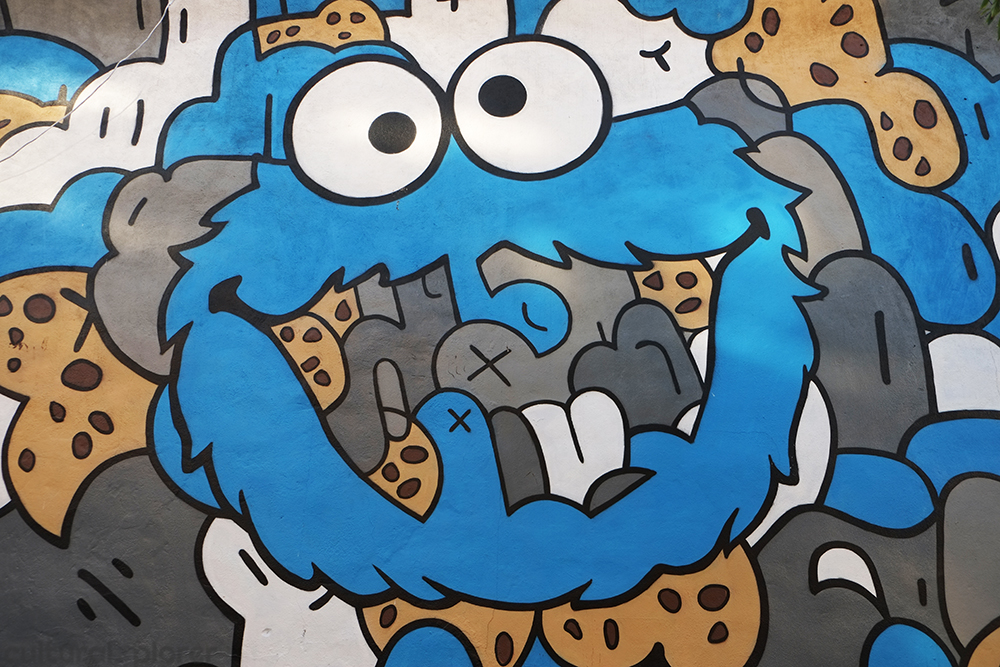 Cookie Monster mural Jerkface