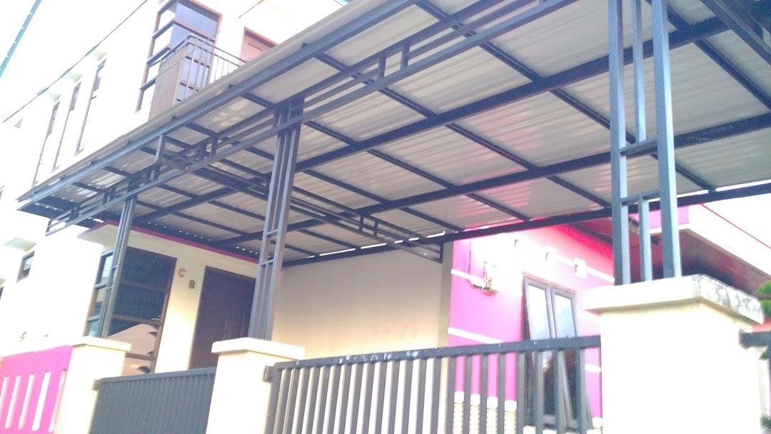 pemasangan atap baja ringan balikpapan bengkel las global kontraktor di