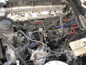 Two small hoses under Intake manifold e36 M52 328i