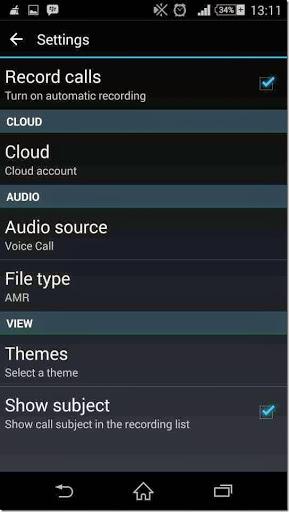 aplikasi secara otomatis menyimpan hasil rekaman panggilan