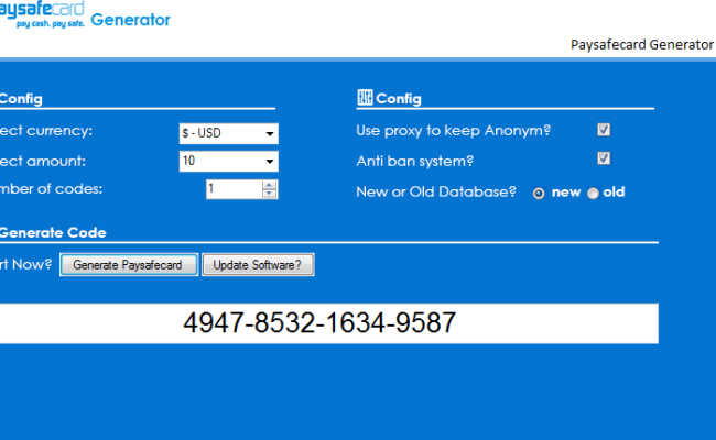 Rechnung paysafecard auf Die PaySafeCard