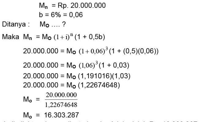 Contoh Soal Bunga Majemuk Matematika Bisnis Berbagi Contoh Soal Cute766