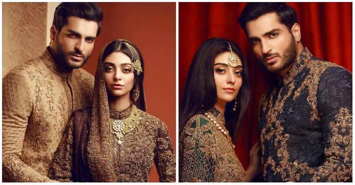 Lavish Bridal Photoshoot of Actress Noor Zafar Khan and Omar Shahzad