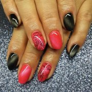 gel western nail art design