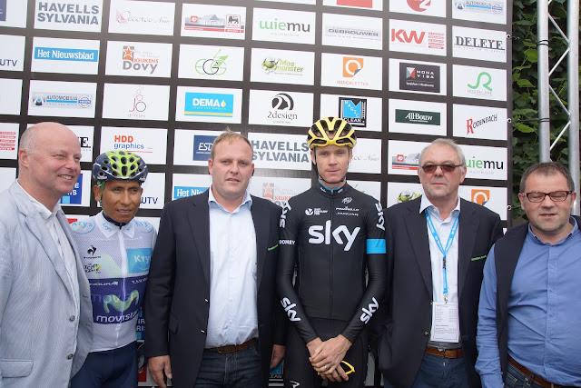 Bjorn Gevaert en Paul Deroo bij Chris Froome en Nairo Quintana