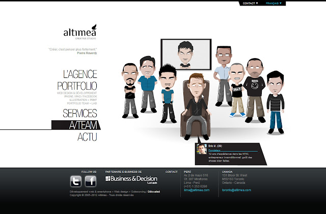 *科技感十足的「翼」Web Design|Agence Web Site 7