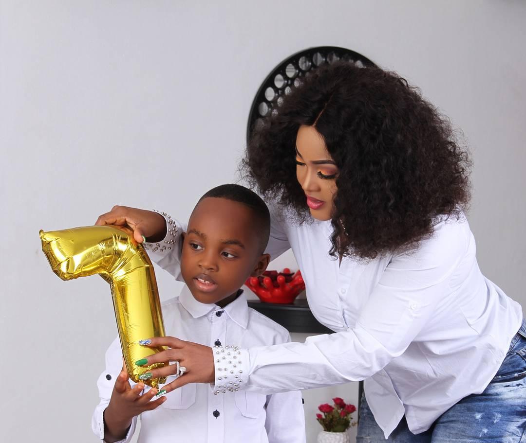 Olaj Photos: Mercy Aigbe Celebrates Her Son On His 7th Birthday