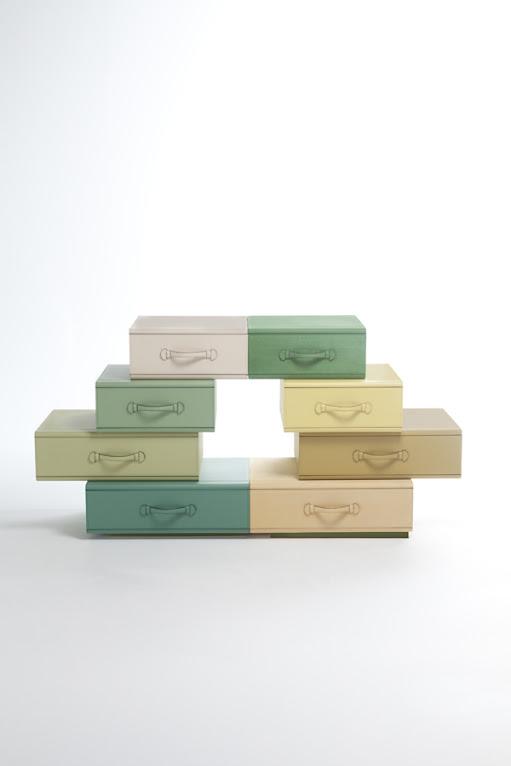 *皮革手提行李箱組合櫃:設計師Maarten de ceulaer探索世界旅行熱情! 3