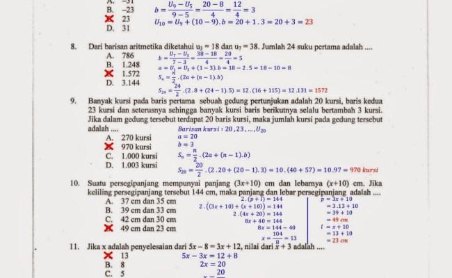 103 Contoh Soal Matematika Di Korea Selatan Terupdate Dikdasmen