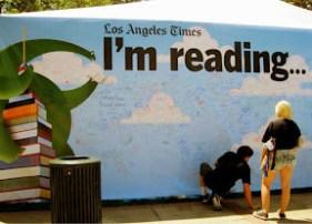 LA Times Festival of Books reading wall