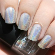 trendy and holographic nail