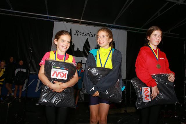 podium meisjes 1000 meter kidsrun