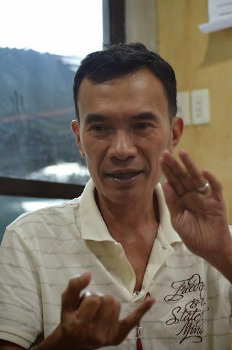 Senior journalist and Manila Bulletin correspondent Ali Macabalang, at his home in Kidapawan City.