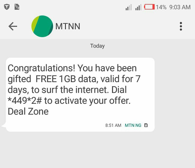 How To Get Free 1GB And 500MB Of Data On MTN Nigeria 2