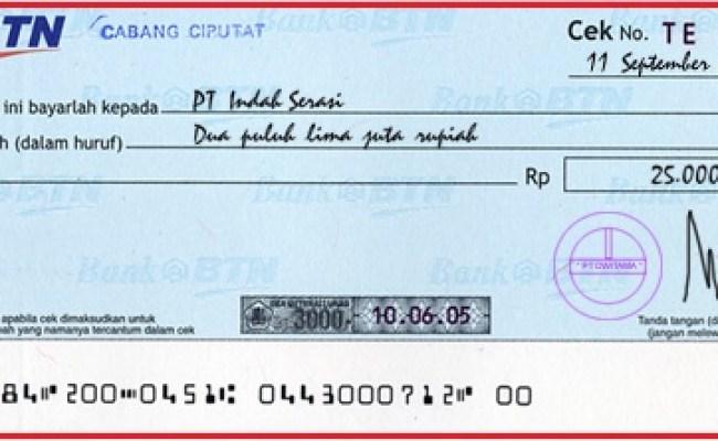 Contoh Cek Bank Panin Contoh Sit Cute766