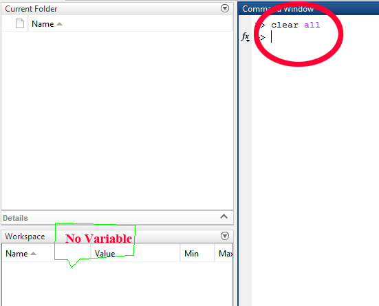Clearing user defined variables from Workspace in MATLAB