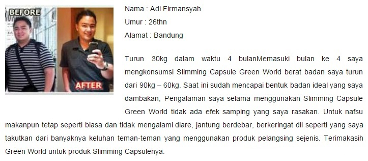 Efek Samping Slimming Capsule Green World