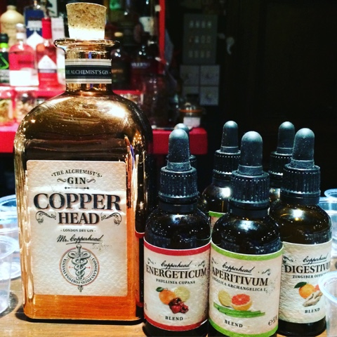 Copperhead gin and blends to add - Copperhead Gin Tasting