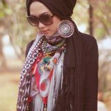 hijab styles with earrings for 2016 2017