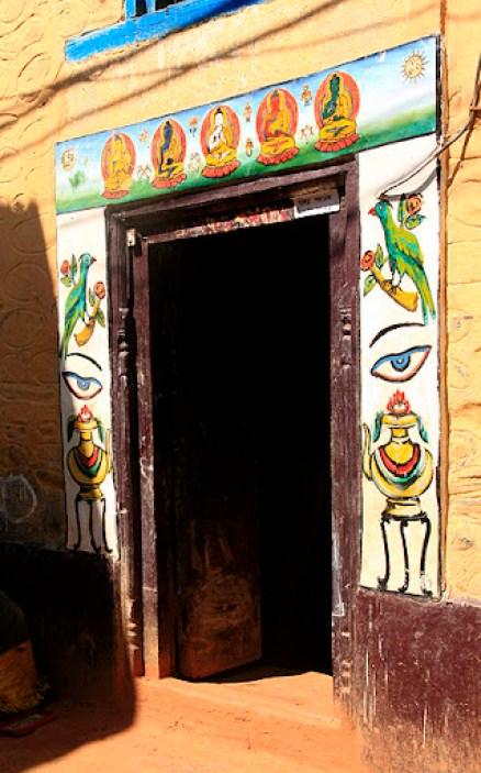 buddhist house markings in Nepal