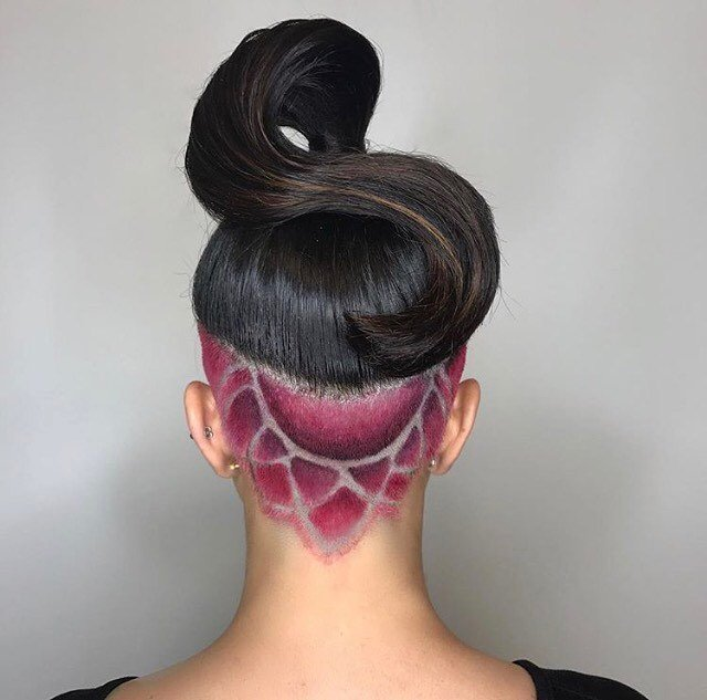 Colorful Undercut Hairstyle Designs Styles 2d