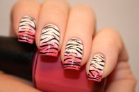tiger stripe nail art designs for 2015 - Styles 7