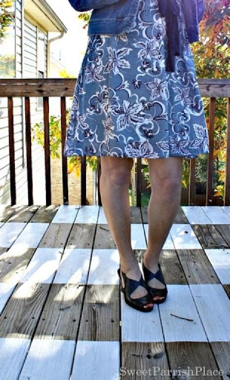 Floral-dress-denim-jacket-grey-sandals-1