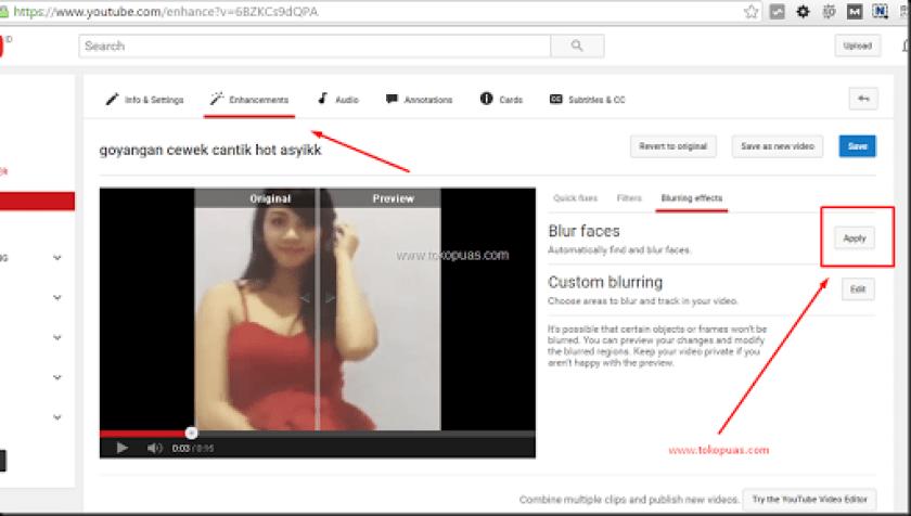 cara memburamkan wajah video youtube