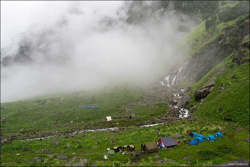 The camp below, Balu ka Gera - Hampta Pass Trekking