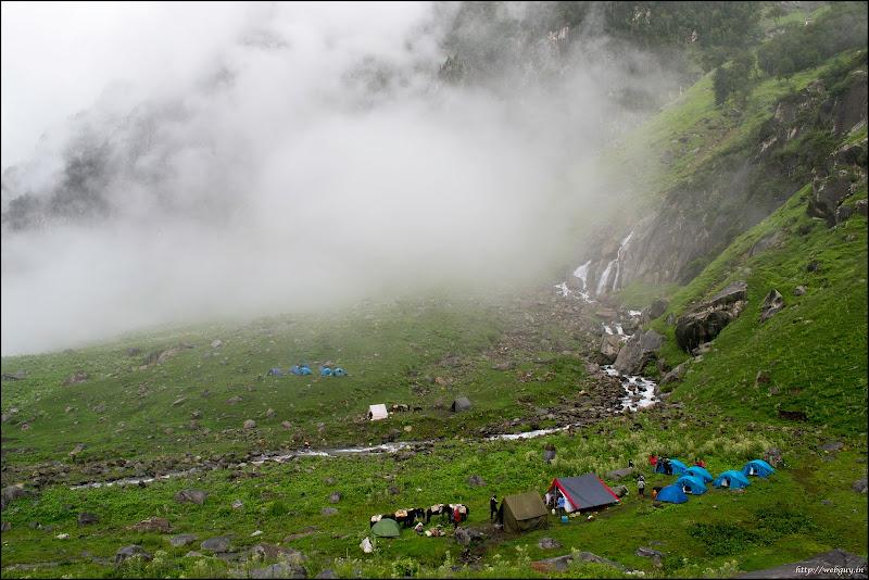 The camp below, Balu ka Gera - Hampta Pass Trekking