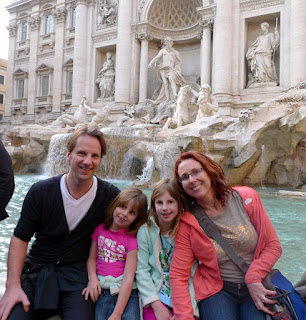 End of the Day at Trevi Fountain.