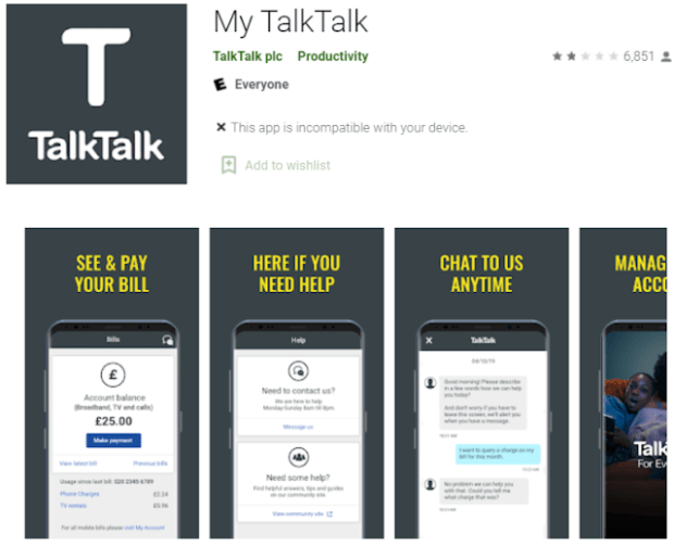 Talktalk email app for android