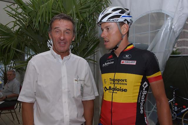 Rino Vandromme en Belgisch Kampioen Preben Van Hecke