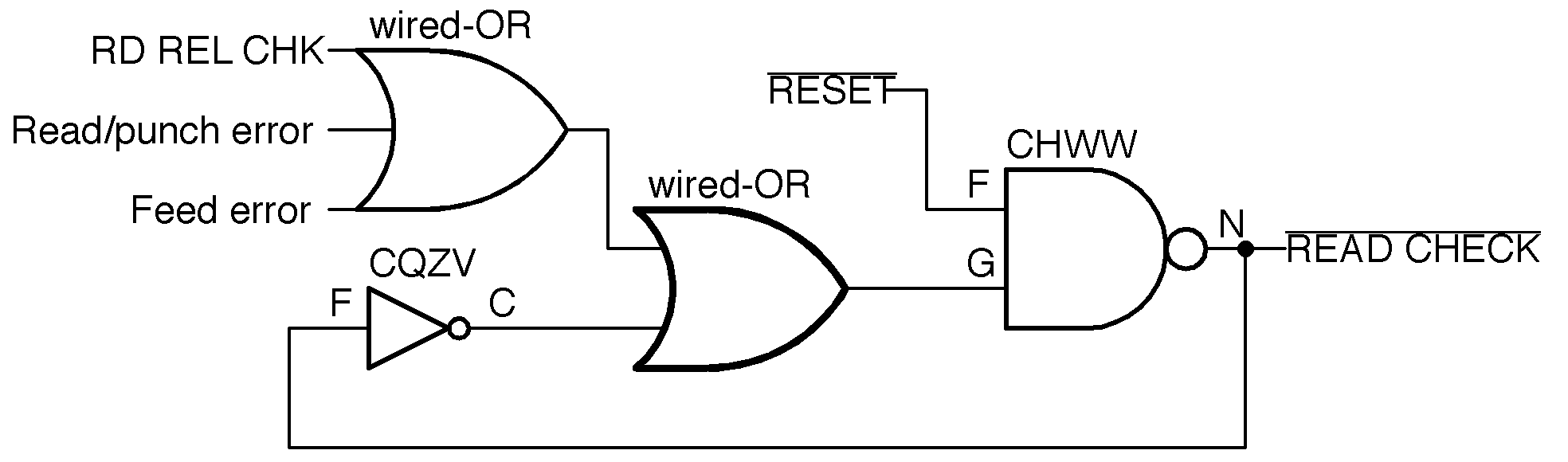 hight resolution of the read check latch circuit redrawn with modern symbols