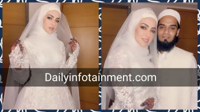Former Actress Sana Khan Recent Beautiful Picture with Husband Mufti Anas