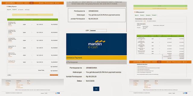 E-cash belanja di Gramediana